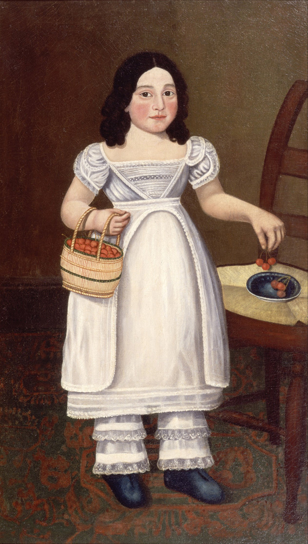 Micah Williams, Girl in White with Cherries. Oil on canvas, 1831. Zimmerli Art Museum at Rutgers, Gift of Anna I. Morgan, 59.012.001.