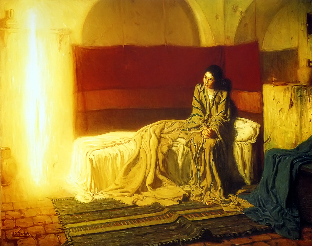 Henry Ossawa Tanner, The Annunciation. Oil on canvas, 1898. Philadelphia Museum of Art.