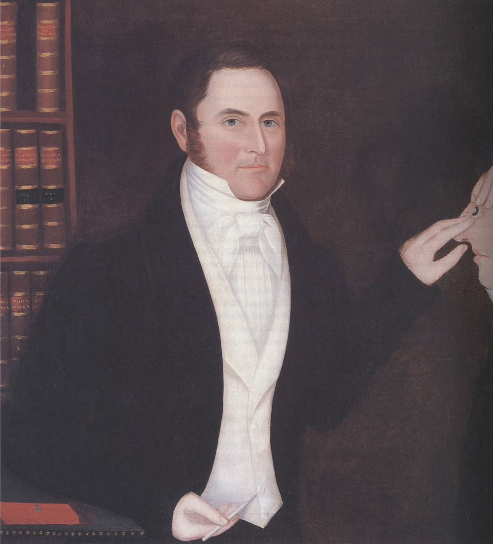 Ammi Phillips, Peter Guernsey, the Eye Doctor. Oil on canvas, 1828. Collection of Richard D. Della Penna and Mearl A. Naponic.