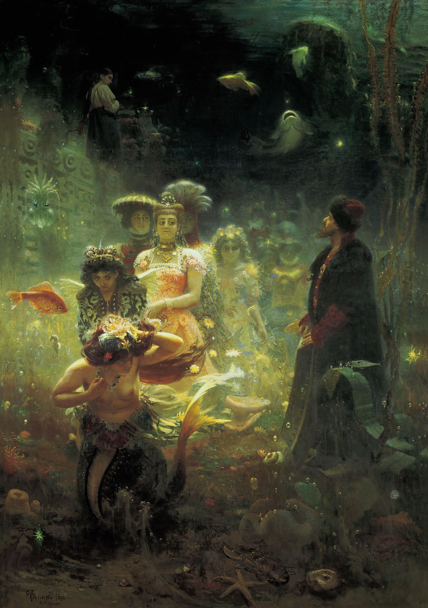 Ilya Repin, Sadko in the Underwater Kingdom. Oil on canvas, 1876. State Russian Museum, St. Petersburg, Russia.