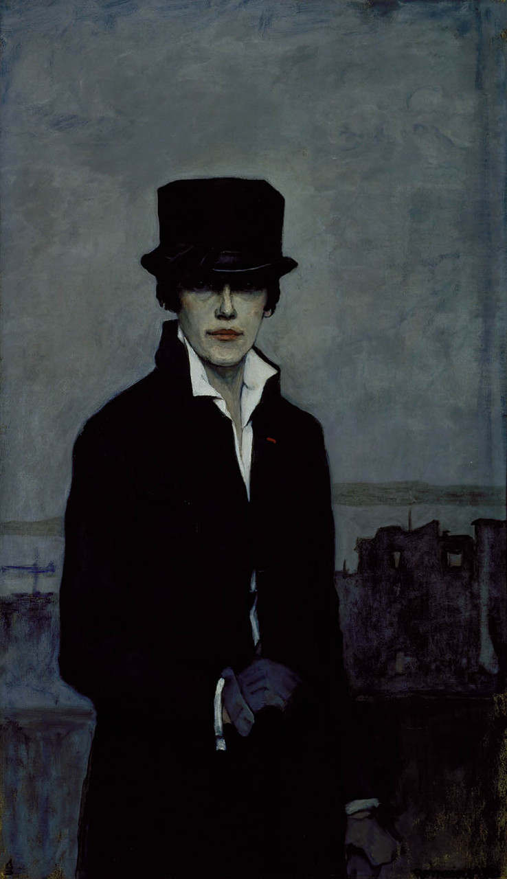 Romaine Brooks, Self-Portrait. Oil on canvas, 1932. Smithsonian American Art Museum, Gift of the artist, 1966.49.1.