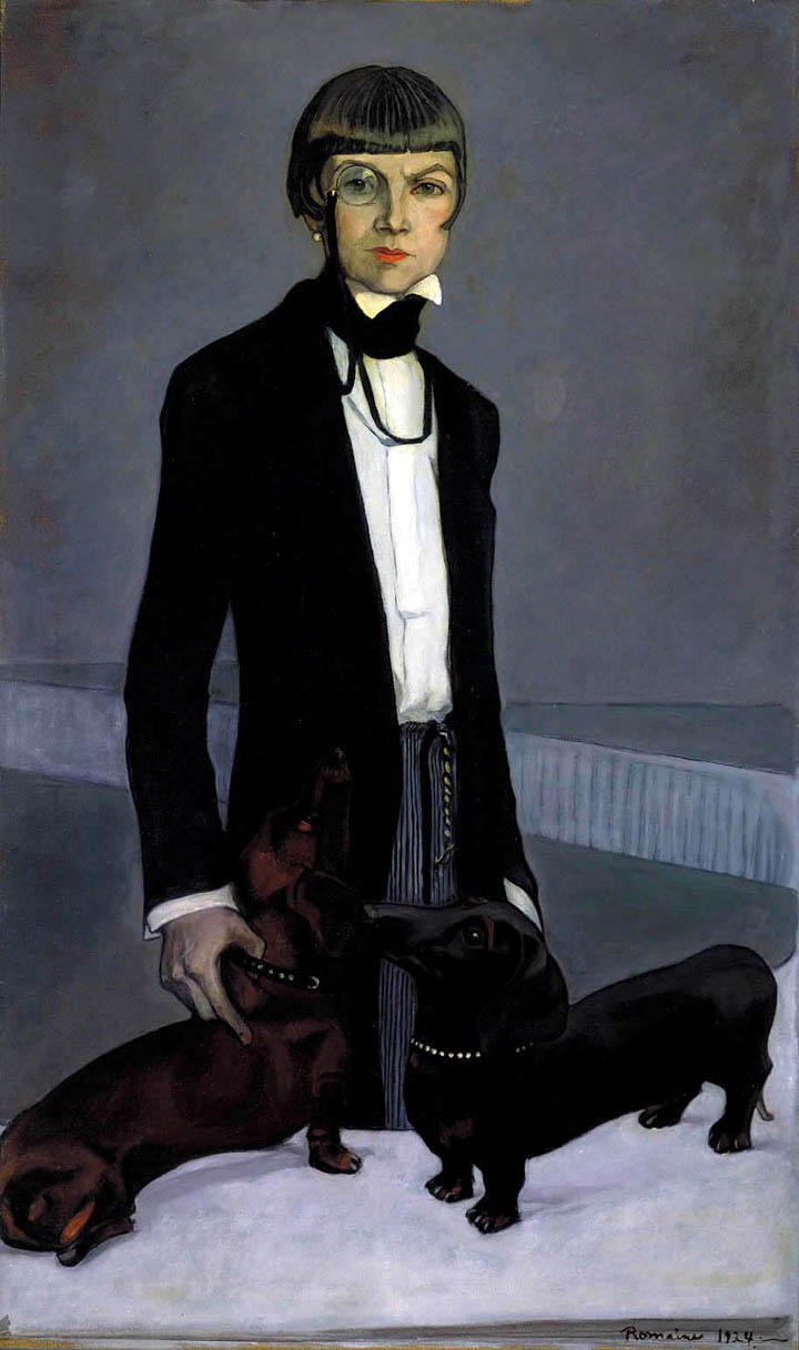 Romaine Brooks, Una, Lady Troubridge. Oil on canvas, 1924. Smithsonian American Art Museum, Gift of the artist, 1966.49.6.