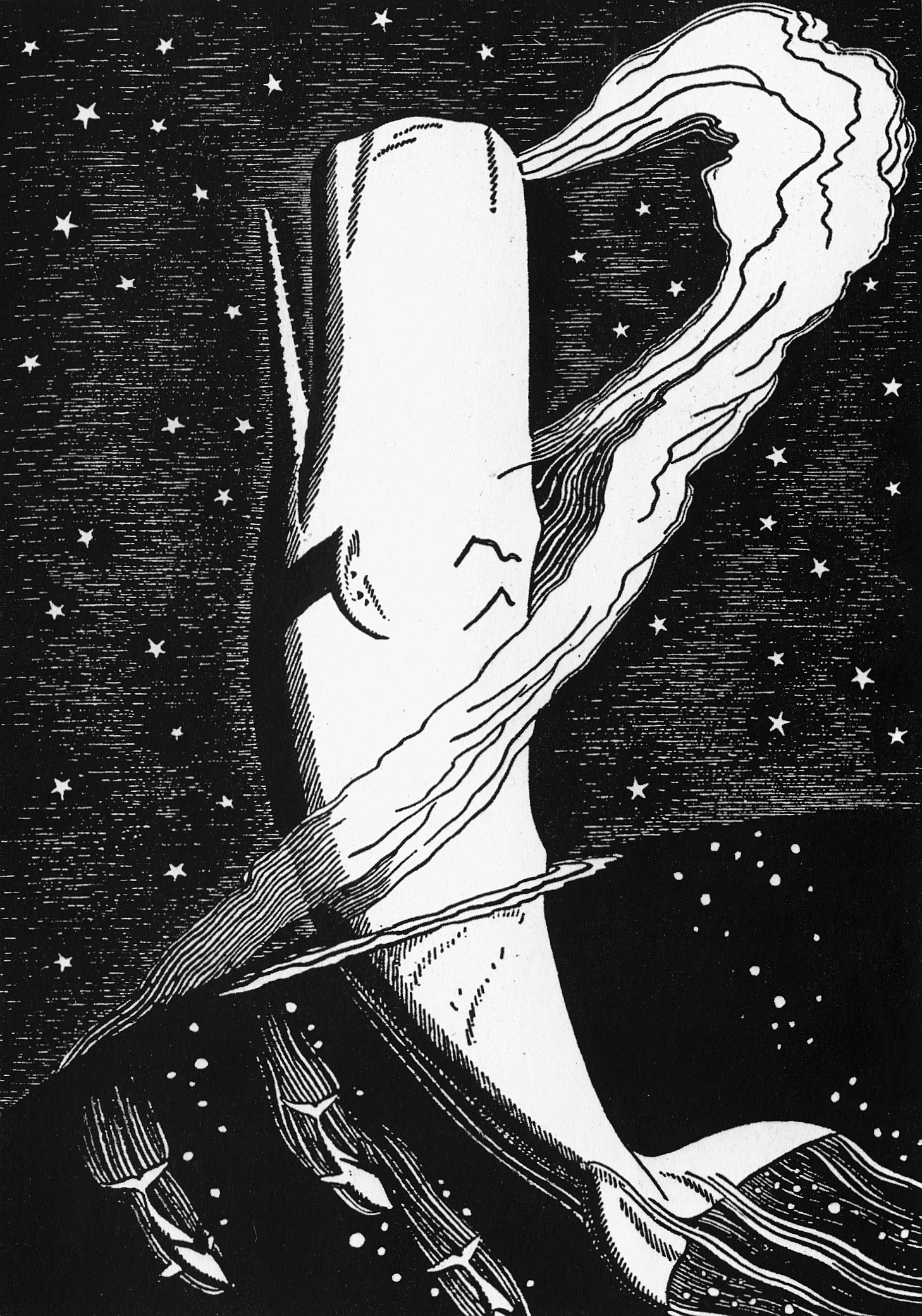 Rockwell Kent, Illustration from Moby-Dick. Black ink on paper, ca. 1929.
