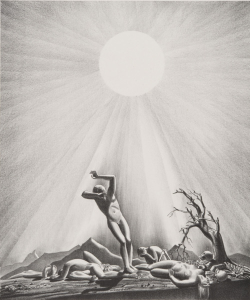 Solar Flare-Up, from the End of the World series. Lithograph, 1937. Copyright Plattsburgh State Art Museum.